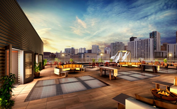 Rooftop event spaces Chicago