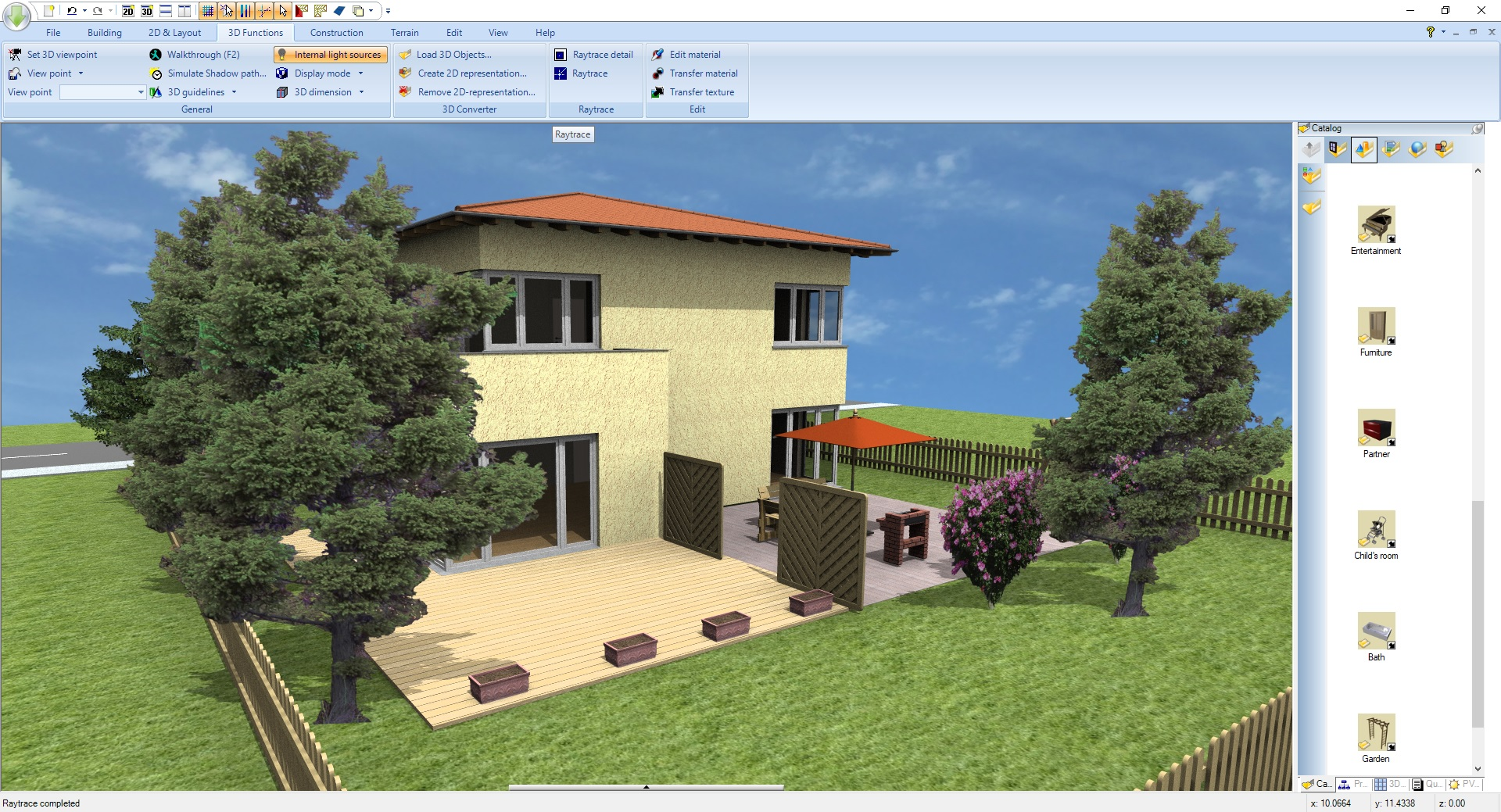 3D cad house design