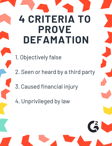 how to prove defamation