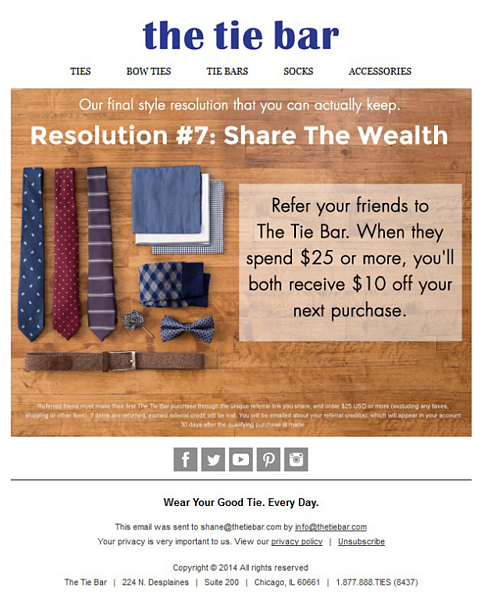 the tie bar email