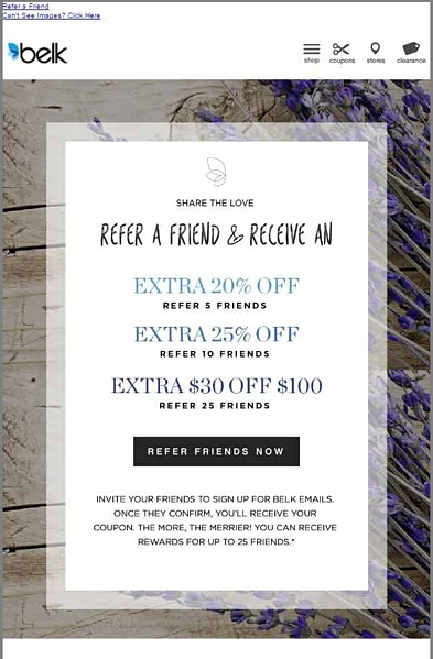 belk referral