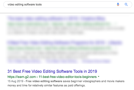 video editing software tools search