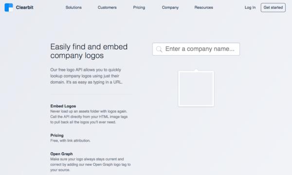 clearbit logo tool