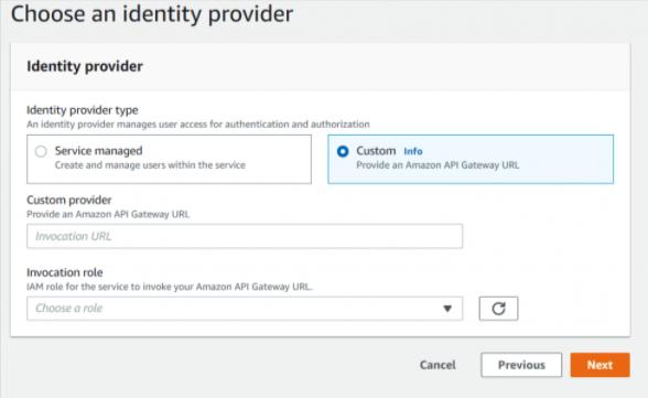 AWS Transfer identity provider