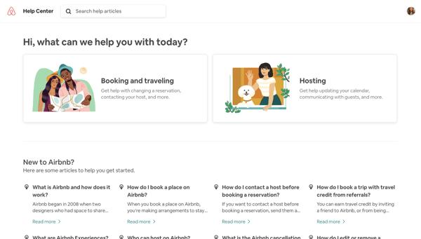 Airbnb FAQ page