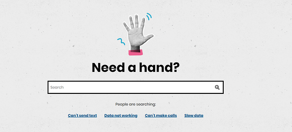 giffgaff need a hand search bar