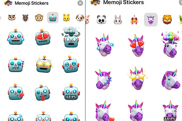 Animoji stickers ios 13