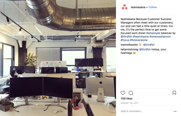 Asana Desk Instagram