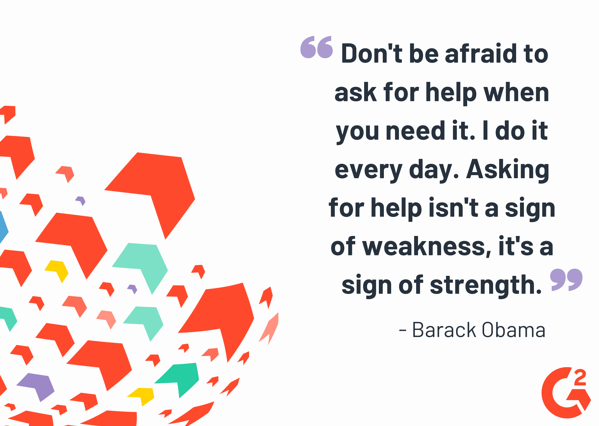 Barack Obama quote about asking for help