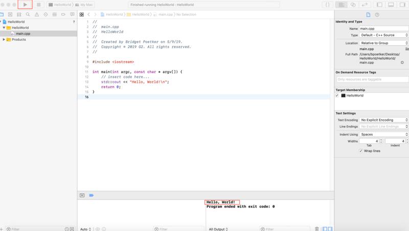 C++ hello world tutorial for beginners