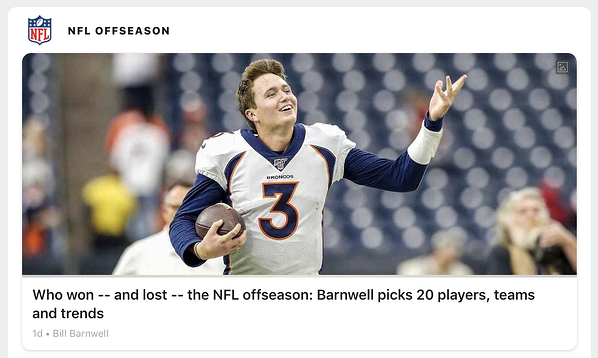 football nfl headline