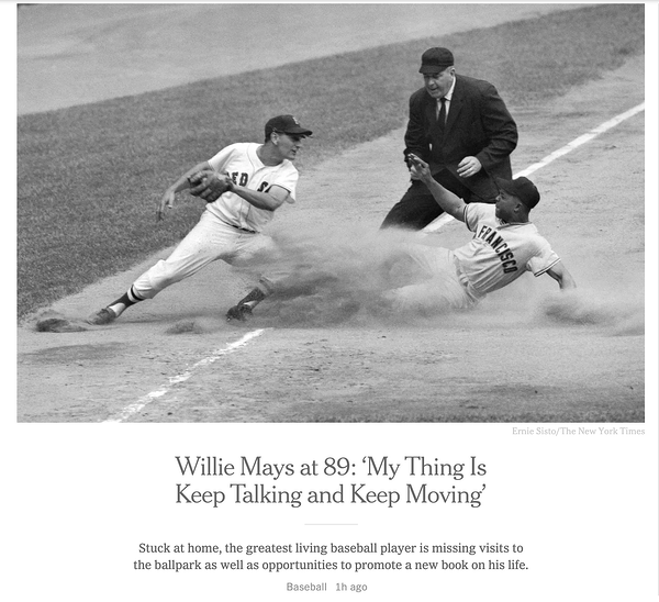 willie mays article