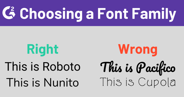Choosing a Typography Family for a Website