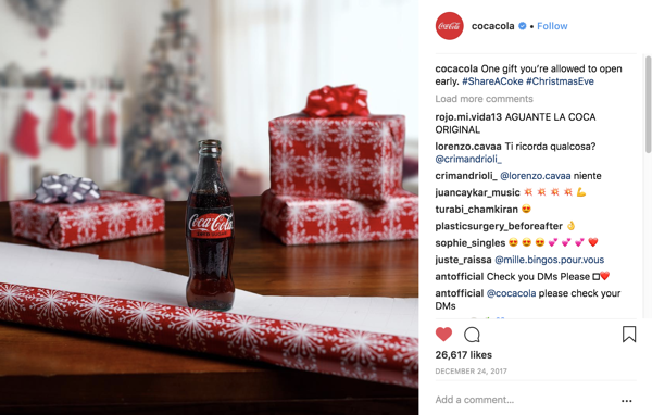 Coca cola Instagram product post