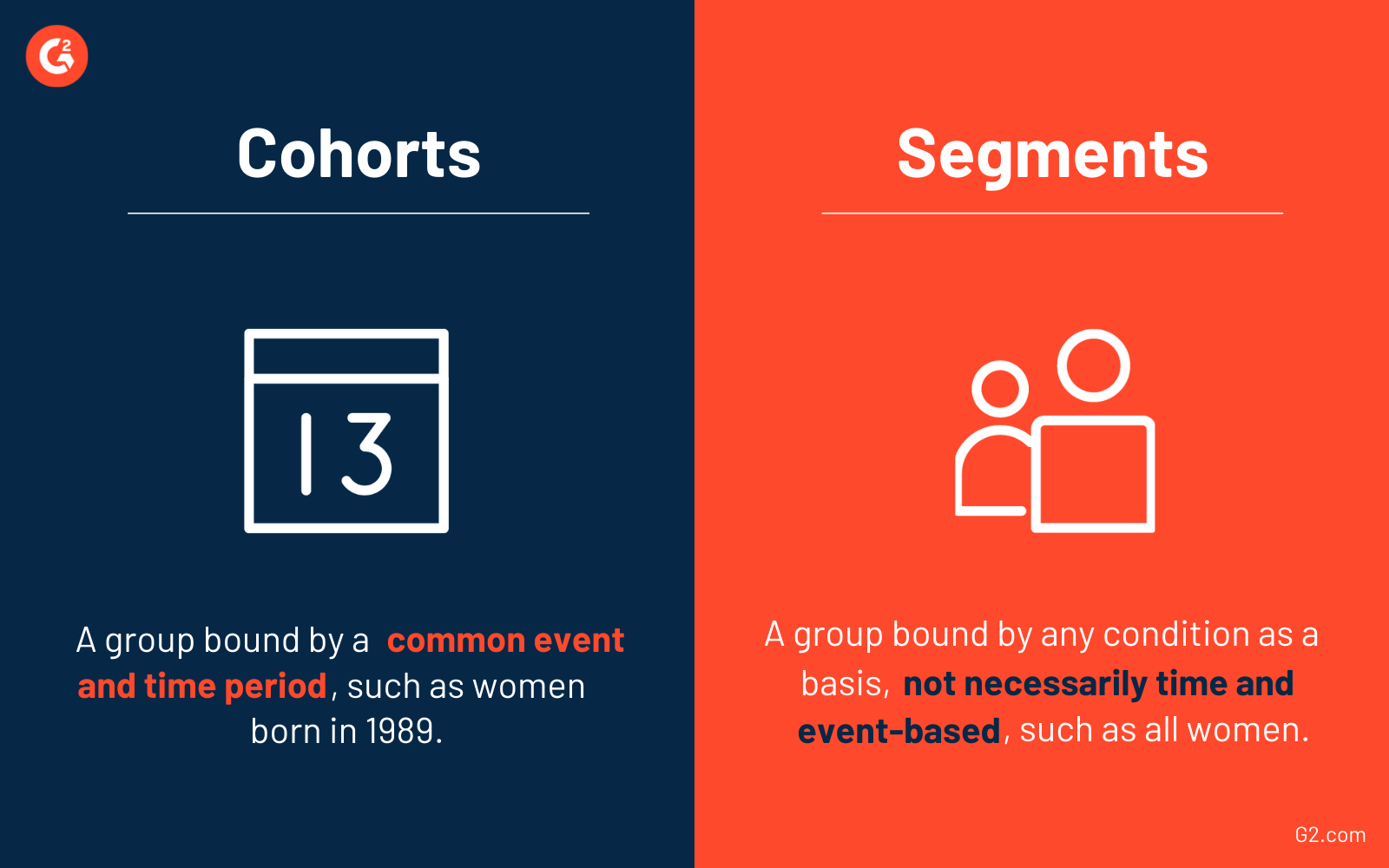 Cohorts vs segments