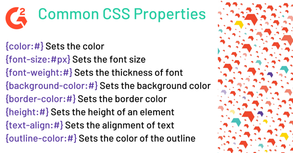 Common CSS Properties