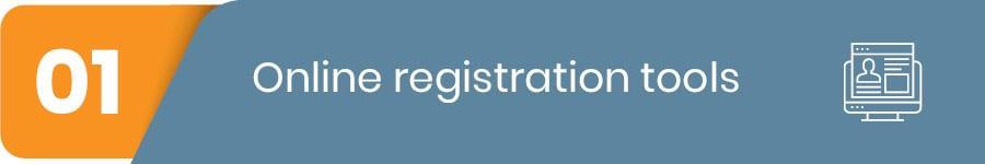 online registration tools