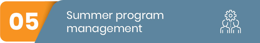 summer program management