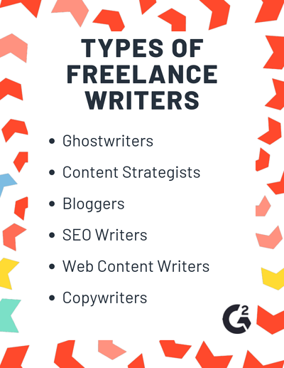 types of freelance writers