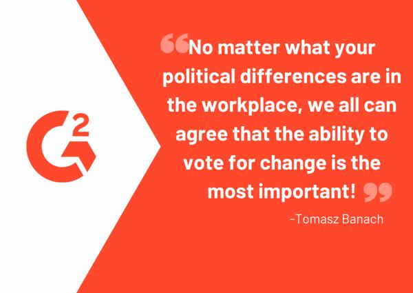 Politics at work encourage employees vote
