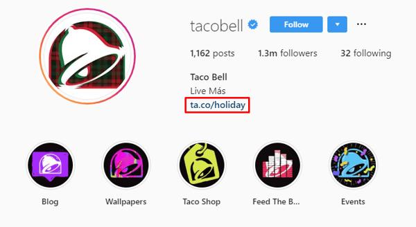 taco bell instagram