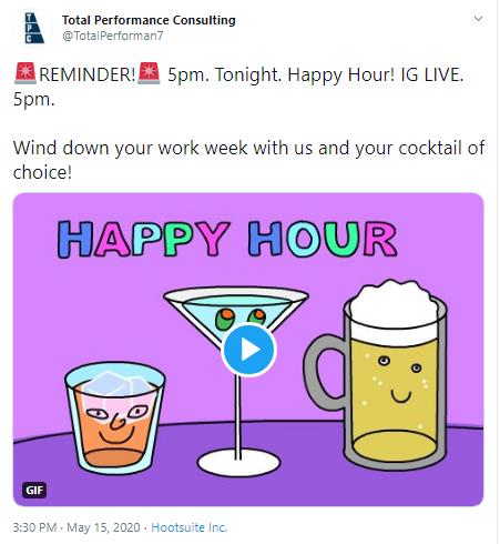 happy hour screenshot