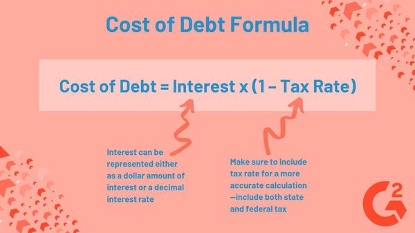 Cost of Debt formula