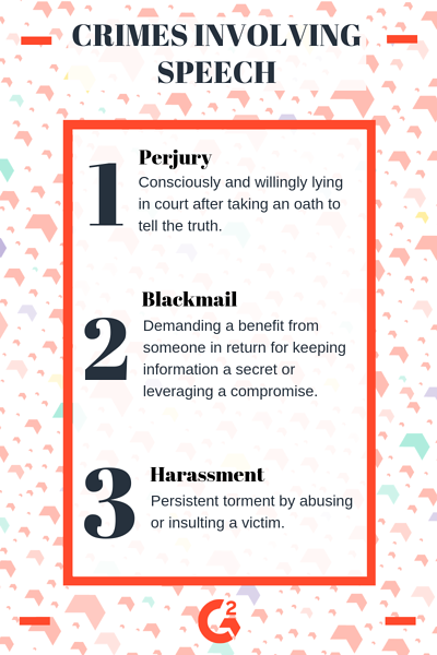 Definition of perjury, blackmail, and harassment
