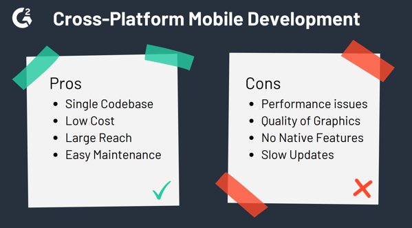 pros and cons of cross-platform mobile development
