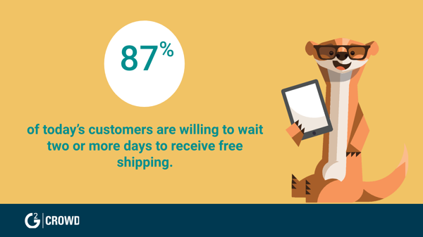 Customers prefer free shipping