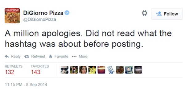 DiGiorno Why I stayed apology
