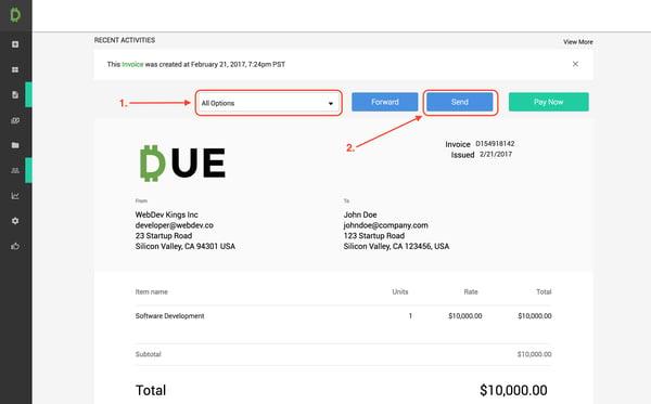 Due.com invoice template