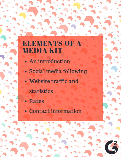 Elements of a media kit