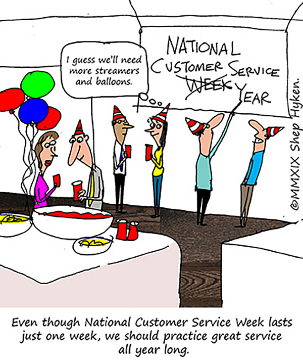 national customer service week cartoon