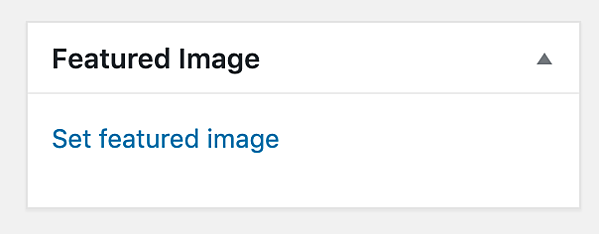 Add a Featured Image to a WordPress Blog