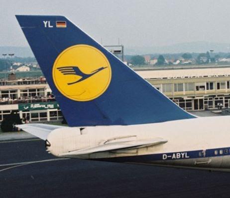 lufthansa yellow blue logo