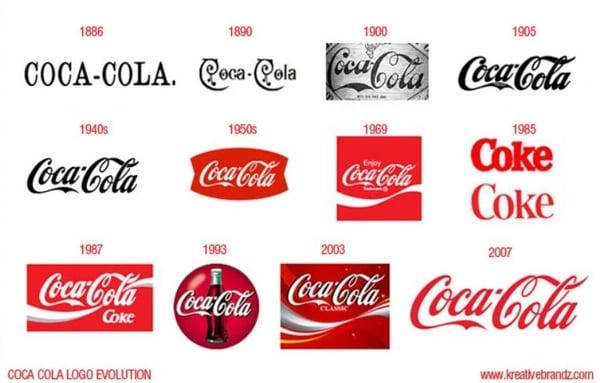coca-cola logos