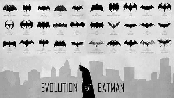 batman logo evolution