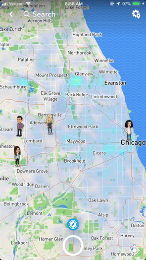 Snap Map with Friends