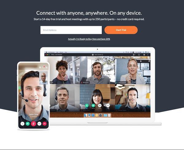 gotomeeting landing page
