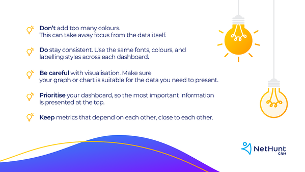 tips for your sales dashboard layout