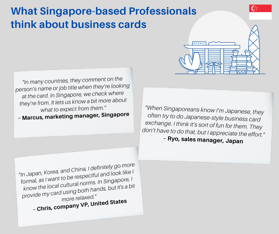 singapore business professionals business card opinions