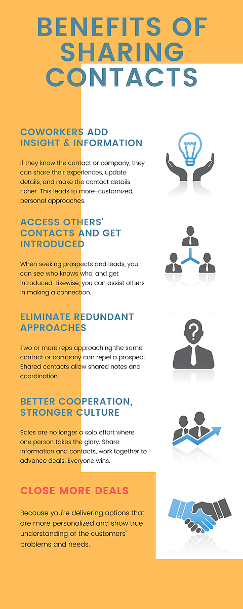 benefits of sharing contacts infographic