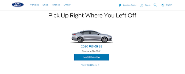 ford fusion ad