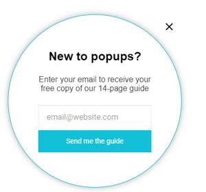 Wisepop blog pop-up
