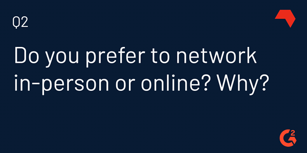 in-person vs online networking