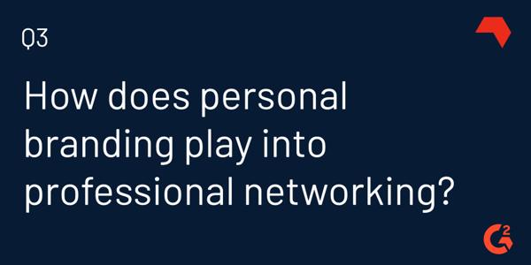 personal branding vs networking