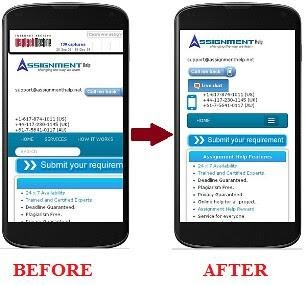 before after mobile form
