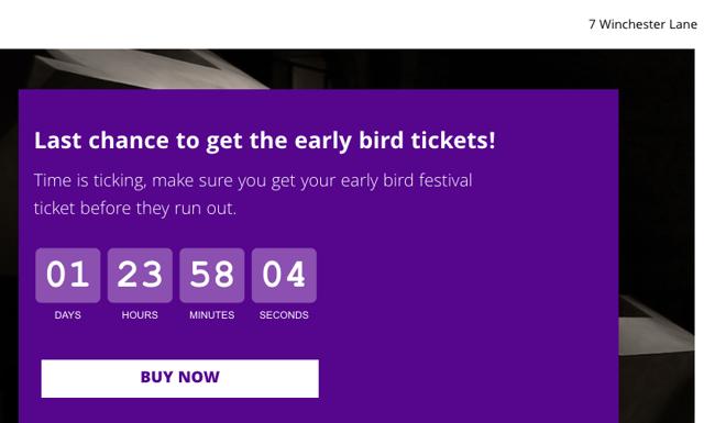 GetResponse countdown