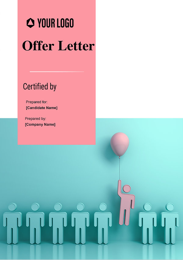 offer letter cover page